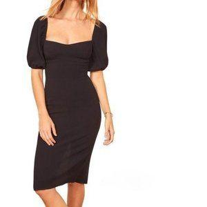 Reformation Jan Sheath Dress Black Size 12 NWT